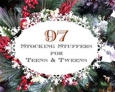 97 Frugal Stocking Stuffers for Teens & Tweens - fill those stockings without breaking the bank :)