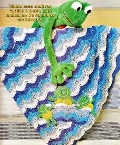 mantas em croche para o bebê em croche com receita