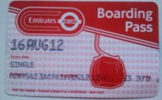 Boarding pass for Emirates Air Line cable car in London. Riding the Emirates Air Line London Cable Car from Royal Docks to North Greenwich:   My birthday last year!!!
