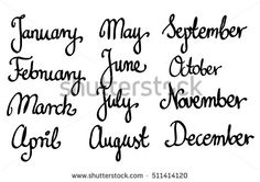 Calligraphic month names set vector  april, art, august, brush, calendar, calligraphic, calligraphy, date, december, decorative, diary, drawn, february, font, graphic, hand, handwritten, illustration, ink, january, july, june, lettering, march, may, modern, month, monthly, names, november, october, organizer, planner, print, script, season, september, set, style, trendy, type, typography, vector, vintage, white, word, written, year