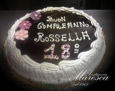 Compleanno torta cioccolata e panna