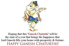 Hoping that this 'Ganesh Chaturthi' will be the start of a year that brings the happiness that lord Ganesh fills your home with prosperity & fortune. #HappyGaneshChaturthi