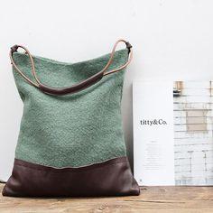 Canvas Bag, Canvas Shoulder Bag, Womens Shoulder Bag YY-006