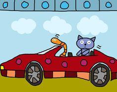 Car Race I Canvas Art