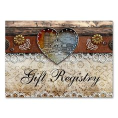 rustic barn country wedding gift registry enclosure card - Rustic Business Cards