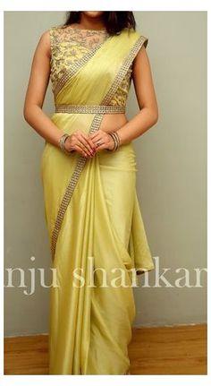 Saree Blouse Neck Designs, Half Saree Designs, Fancy Blouse Designs, Latest Blouse Designs, Indian Blouse Designs, Saree Blouse Patterns, Stylish Sarees, Trendy Sarees, Saree Designs Party Wear