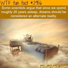 Are dreams an alternate reality - WTF fun facts. That's kind of scary to think about. Wow Facts, Wtf Fun Facts, True Facts, Funny Facts, Random Facts, Crazy Facts, Dream Facts, Strange Facts, Random Things