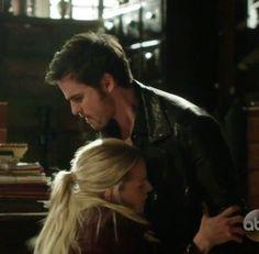 Emma collapsing into Killian's arms...