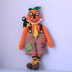 Crocheted+Halloween+Masks | Ravelry: Mr. Pumpkinhead and Crackerjack pattern by Sue Pendleton