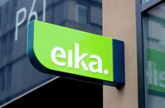 Signage and logo designed by Mission for local bank alliance Eika
