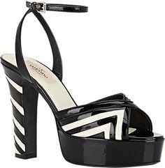 Valentino Fever Ankle-Strap Platform Sandals