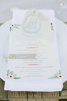 Wedding Reception Menu // Photography: onelove photography, Planning: Kelsey West Designs