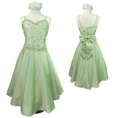green 10/12 girl's dress