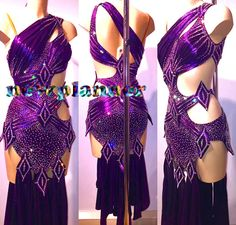 Women Ballroom Rhythm Salsa Rumba Samba Latin Dance Dress US 8 UK 10 Two Purple - http://clothing.goshoppins.com/dancewear/women-ballroom-rhythm-salsa-rumba-samba-latin-dance-dress-us-8-uk-10-two-purple/