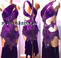 Women Ballroom Rhythm Salsa Rumba Samba Latin Dance Dress US 8 UK 10 Two Purple - http://clothing.goshoppins.com/dancewear/women-ballroom-rhythm-salsa-rumba-samba-latin-dance-dress-us-8-uk-10-two-purple/
