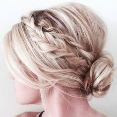 Braided Updo with Short Hair in a Low Bun #shorthairstyles #shorthair #updos #updohairstyles #hairupdos #shorthairdontcare