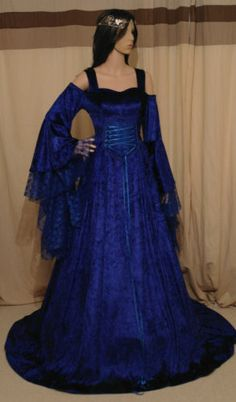1000 images about wedding on pinterest medieval wedding for Blue gothic wedding dresses