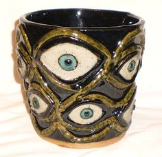 TwelveEyed Pot  Handbuilt clay slab pot with by aberrantceramics, $45.00
