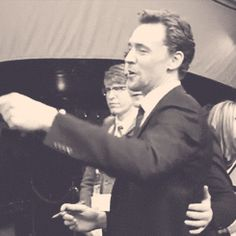 (gif) Tom Hiddleston looks at you. I'm not usually a gif obsesser, but I could watch this forever.