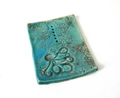 Turquoise Octopus Soap Dish by sleeksoap on Etsy, $20.00