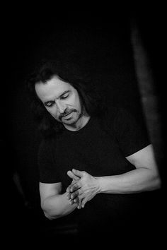 Yanni preparing for a show in Minsk Belarus 4/13/2013. It speaks to the dedication this artist gives to each of his performances and audiences.