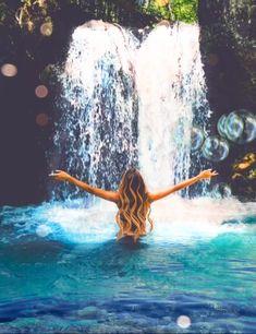 Beautiful Fantasy Art, Beautiful Fairies, Beautiful Gif, Beautiful World, Fantasy Art Landscapes, Fantasy Landscape, Beautiful Women Videos, Native American Pictures, Yoga Art
