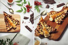 Minis sapins feuilletés au chocolat & épices de noël