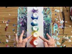 Acrylic pouring ( 25 ) - YouTube