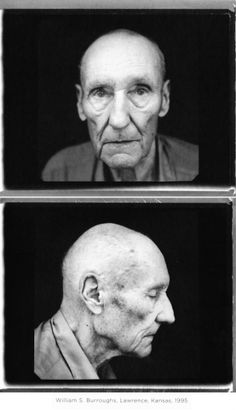 William S Burroughs in his garage, Lawrence, Kansas, 1995 by Annie Leibovitz