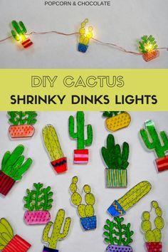 DIY Cactus Shrinky D