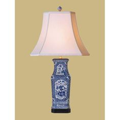 Blue And White Floral Vase Lamp East Enterprise Accent Lamp Table Lamps Lamps