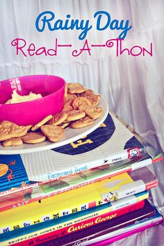 Rainy day read-a-thon!  Kids love this!
