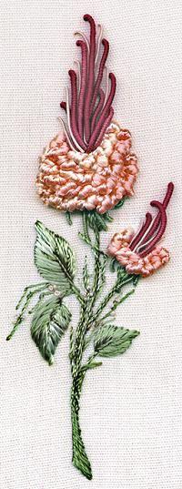 Brazilian Dimensional Embroidery California Rosebud