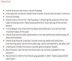 Step 3- Mardi Gras