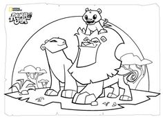 Animal Jam Lion Coloring Page