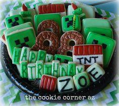 Minecraft cookie platter