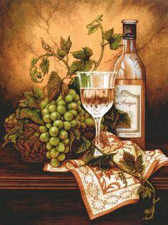 Compra vino y uvas pinturas al óleo online al por mayor de China ...