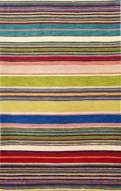 Inca Yellow Stripes Area Rug