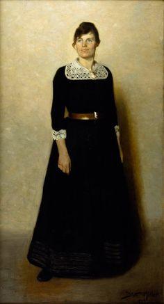Harald Slott-Møller's wife the artist. Agnes Slott-Møller née Rambusch (1862-1937), photo by Christensen & Morange