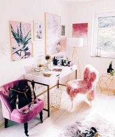 Feminine Home Office Decor