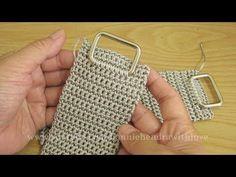 Crochet Belt, Crochet Clutch, Crochet Handbags, Crochet Purses, Crochet Stitches, Knit Crochet, Crochet Designs, Crochet Patterns, Fabric Bags