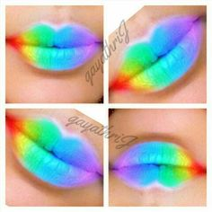 #rainbow #colourful #lips