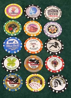 Create your custom poker chips with a logo, monogramming, stock denominations, photo or anything else you can imagine. Our custom poker chips are great for advertising, souvenirs, and tournaments. We can personalize your poker chips with initials or your custom logo & can create just about anything to your design.  Please call us for quotes and proofs: (702) 382-9903