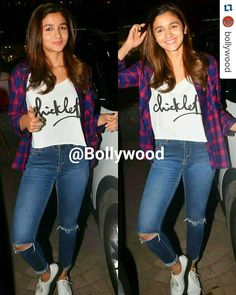 Rate the Look1........10  #Repost @BOLLYWOOD  Alia Bhatt is the cutest ever in Jeans and slogan Tee last night at a party by KJo. @BOLLYWOOD    . . #instabollywood #bollywood #india #indian #desi #bollywoodactress #mumbai #bollywoodfashion #bollywoodstyle #bollywoodmovie #indianfashion #indianstyle #delhi #noida #gurgaon #chandigarh #hyderabad #surat #pune #bangalore #tagforlikes #likesforlikes #aliabhatt #kapoorandsons @BOLLYWOOD  . For more follow #BollywoodScope and visit…