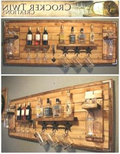 How to make a DIY Pallet Bar? - Diana Phoneix How to make a DIY Pallet Bar? - Is it your friend's birthday or some big event coming up in few days? If yes and you wanted to surprise him then making a DIY pallet bar is a great . Bar Pallet, Pallet Walls, Pallet Wine, Pallet Ideas For Walls, Pallet Cooler, Wooden Pallet Projects, Homemade Bar, Home Bar Designs, Basement Bar Designs