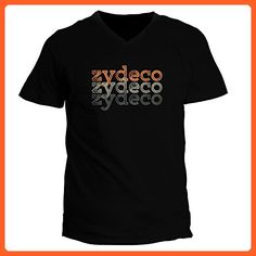 Idakoos - Zydeco repeat retro - Music - V-Neck T-Shirt - Retro shirts (*Partner-Link)