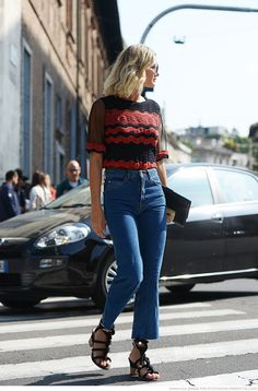 Check out the latest and best denim street style outfits from Stockholm and around the globe. I Love Fashion, Denim Fashion, Daily Fashion, Fashion Outfits, Fashion 2016, Winter Fashion, Spring Street Style, Street Style Women, Street Styles
