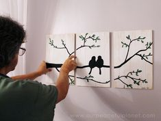 Apr 2019 - Do you need some cheap bedroom wall ideas? Here are a few things to get your creative juices flowing! These are part of our Bedroom Makeover series Diy Wall Decor For Bedroom, Cheap Wall Decor, Diy Wall Art, Bedroom Wall, Diy Bedroom, Bedroom Ideas, Budget Bedroom, Diy Apartment Decor, Diy Canvas Art