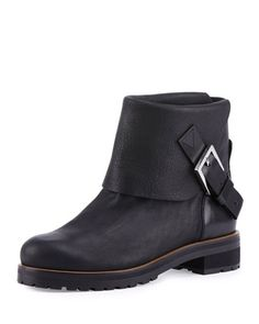 Georgie+Fold-Over+Buckled+Moto+Bootie+by+Chloe+at+Bergdorf+Goodman.