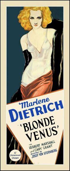 Marlene Dietrich Blonde Venus